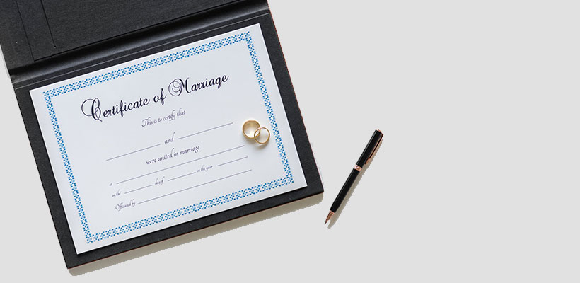 Marriage-certificate